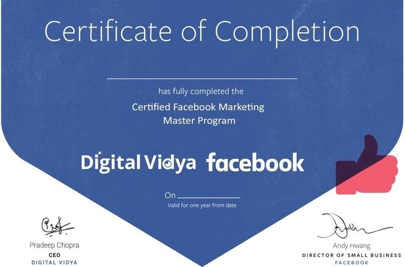 facebook ads courses certification digital vidya
