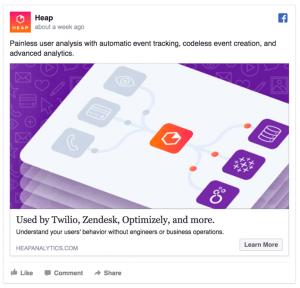 Heap: Facebook Ad Example