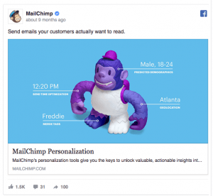 Facebook Ad Example From Mail Chimp