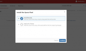 How to set up quora pixel for tracking conversions