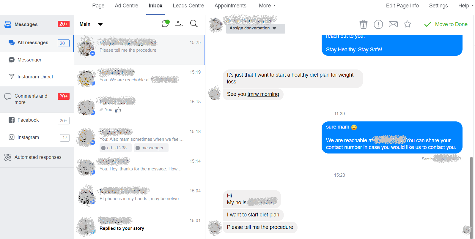 more leads in Facebook messenger