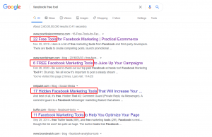 Competitive research with search intent behind a search